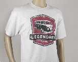 VW T1 BUS T-SHIRT UNISEX (L) - LEGENDARY/ROT/GRAU