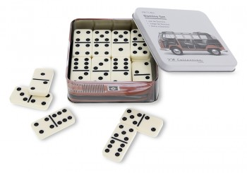 VW T1 BUS DOMINO SET IN METALLDOSE - DASHBOARD