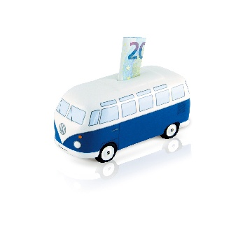 VW T1 BUS MONEY BANK CERAMIC (SCALE 1:22) IN GIFT BOX - CLASSIC BLUE