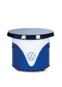 VW T1 BUS TABLE OIL DRUM (208L) - WHITE/BLUE