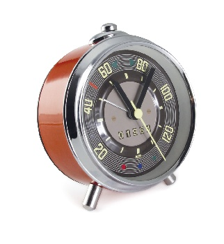 VW T1 BUS ALARM CLOCK IN SPEEDOMETER DESIGN IN GIFT TIN - RED
