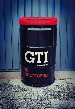 VW GTI STOOL OIL DRUM (60L) - BLACK