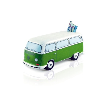 VW T2 BUS MONEY BANK CERAMIC (SCALE 1:22) IN GIFT BOX - GREEN