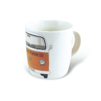 VW T2 BUS KAFFEETASSE 370ml IN GESCHENKBOX - ORANGE