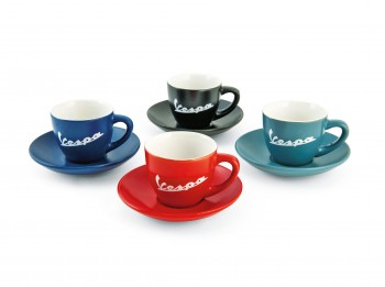 VESPA ESPRESSO CUPS SET OF 4 - DARK