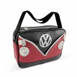 VW T1 BUS SHOULDER BAG LANDSCAPE - RED/BLACK