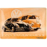 VW BUS AND BEETLE METAL SIGN - THE VOLKSWAGEN