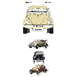 VW BEETLE MAGNET 3-PC SET IN BLISTER PACKAGING - CLASSIC