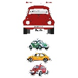 VW BEETLE MAGNET 3-PC SET IN BLISTER PACKAGING - SPECIAL