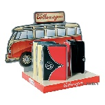 VW T1 BUS BUSINESS CARD CASE 8-PC SET IN DISPLAY