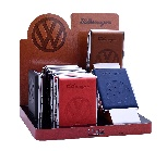 VW LOGO CIGARETTE CASE IN GIFT BOX, 8-PC SET IN 4 COLOURS IN DISPLAY
