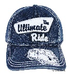 VW T1 BUS BASEBALL CAP - THE ULTIMATE RIDE/BLUE