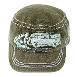 VW T1 BUS MILITARY CAP - OLIVE