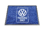 VW DOORMAT - PARKING ONLY/BLUE