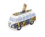 VW T1 BUS MONEY BANK (SCALE 1:18) WITH SURF BOARD IN GIFT BOX - FLOWER
