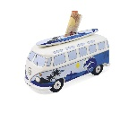 VW T1 BUS MONEY BANK (SCALE 1:18) WITH SURF BOARD IN GIFT BOX - SURF