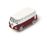 VW T1 BUS 3D MINI MODELL MIT MAGNET IN GESCHENKDOSE - ROT