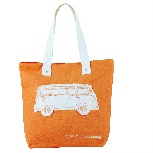 VW T1 BUS CANVAS SHOPPER BAG - ORANGE