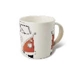 VW T1 BUS KAFFEETASSE 370ml IN GESCHENKBOX - ORANGE