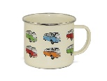 VW T1 BUS EMAILLE TASSE 500ml IN GESCHENKBOX - BULLI T1 PARADE