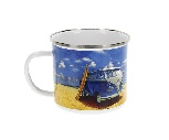 VW T1 BUS ENAMEL MUG 500ml IN GIFT BOX - BEACH LIFE