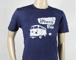 VW T1 BUS T-SHIRT UNISEX (L) - THE ULTIMATE RIDE/BLUE