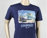 VW T1 BUS T-SHIRT UNISEX (L) - BEACH/BLUE