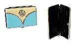 VW T1 BUS BUSINESS CARD CASE IN GIFT BOX - CREME/BLUE