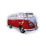 VW T1 BUS WALL CLOCK - CLASSIC RED