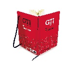 VW GTI PAPER NOTEBOOK, A5 FORMAT, LINED - THE LEGEND/RED