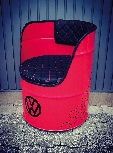 VW GTI CHAIR OIL DRUM (208L) - RED