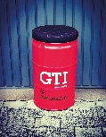 VW GTI STOOL OIL DRUM (60L) - RED