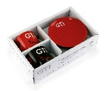 VW GTI ESPRESSO CUP 2ER SET 100ml IN GIFT BOX - THE LEGEND/RED & BLACK