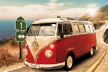 VW T1 BUS POSTER ROUTE 1 - MAXI