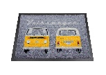VW T2 BUS DOORMAT - FRONT & BACK/ORANGE
