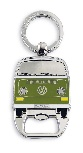 VW T2 BUS KEY RING WITH BOTTLE OPENER IN BLISTER PACKAGING - GREEN (D)