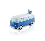 VW T2 BUS MONEY BANK CERAMIC (SCALE 1:22) IN GIFT BOX - BLUE